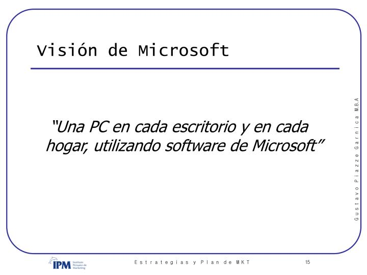 Visión de Microsoft