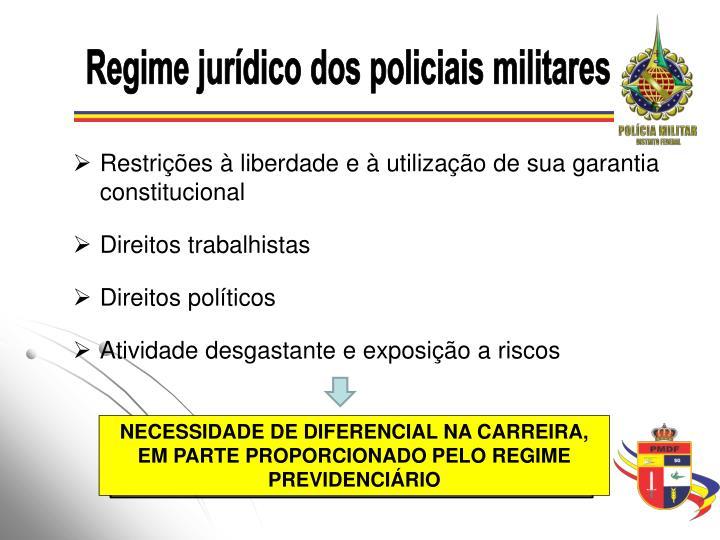 Regime jurídico dos policiais militares