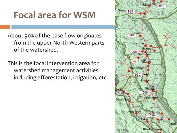 Focal area for WSM