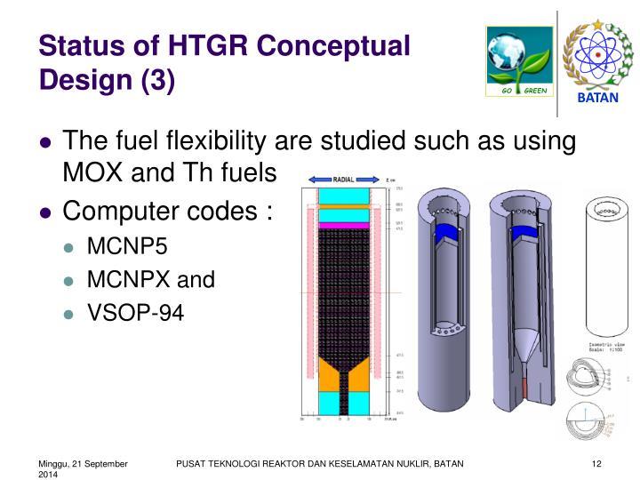 Status of HTGR Conceptual