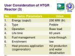 user consideration of htgr reactor 3