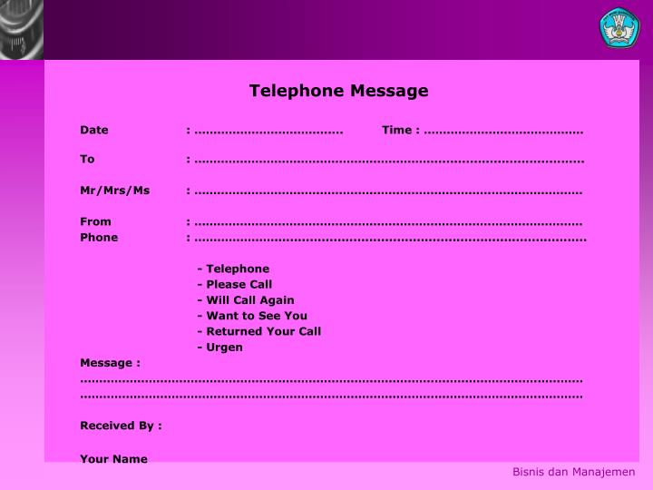 Telephone Message