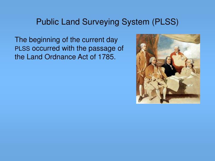 Public Land Surveying System (