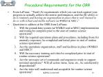 procedural requirements for the orr1