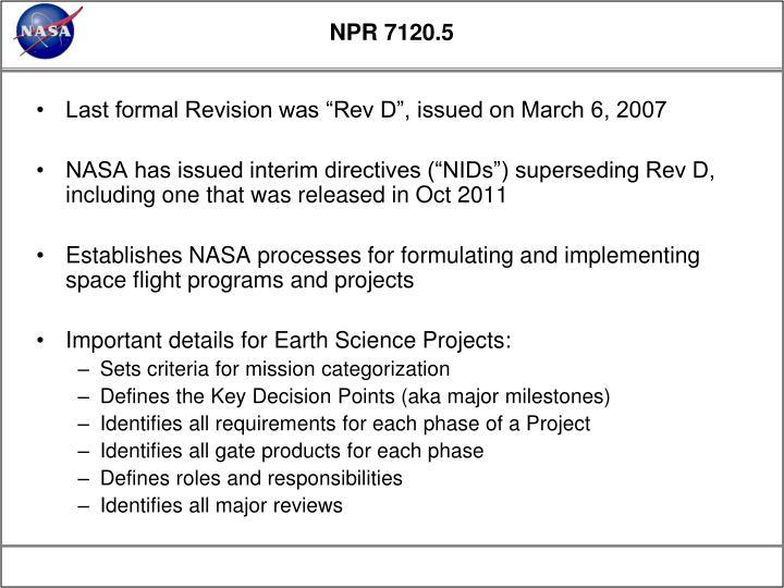 NPR 7120.5