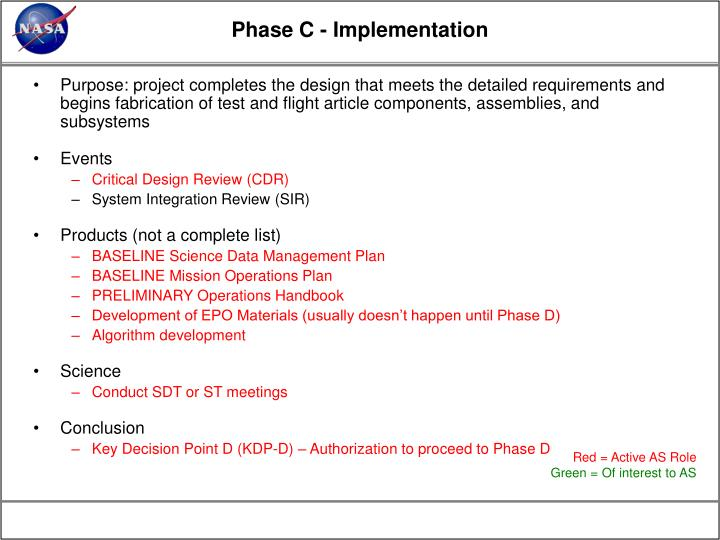 Phase C - Implementation