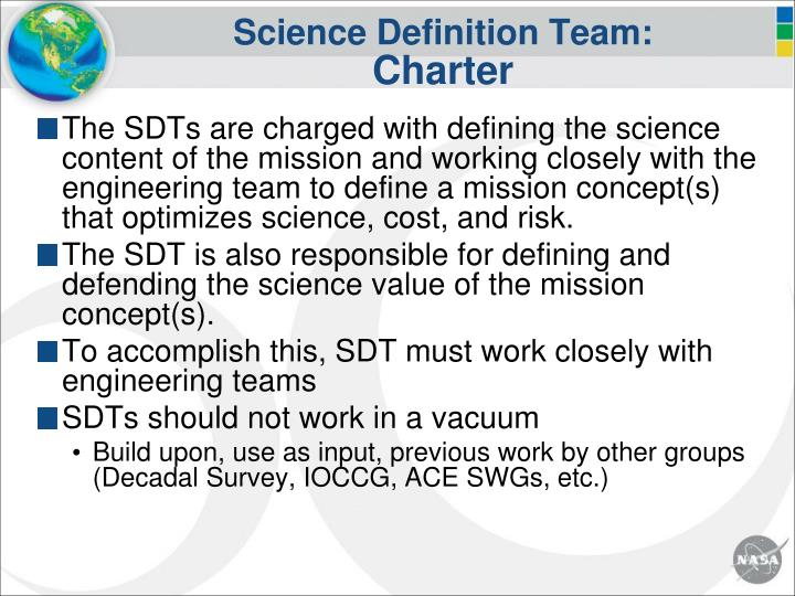 Science Definition Team: