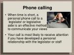 phone calling