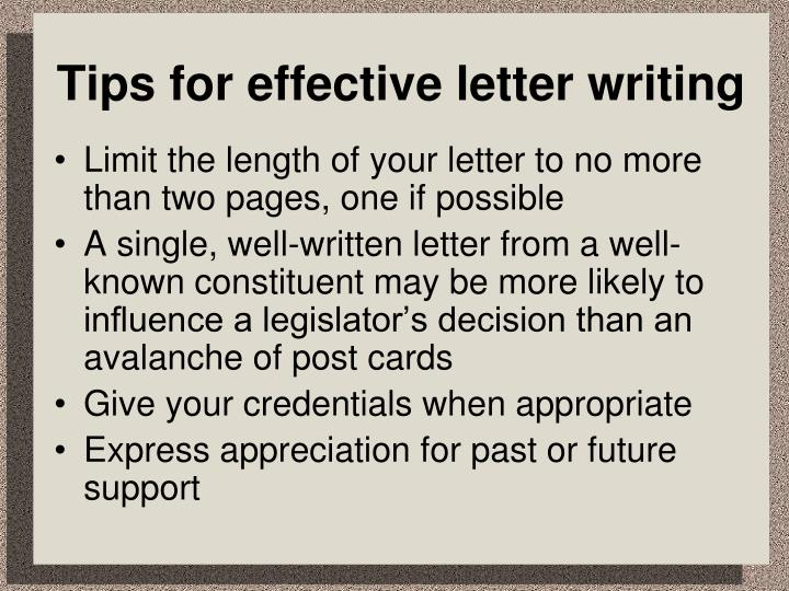 Tips for effective letter writing