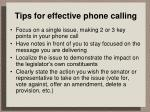 tips for effective phone calling