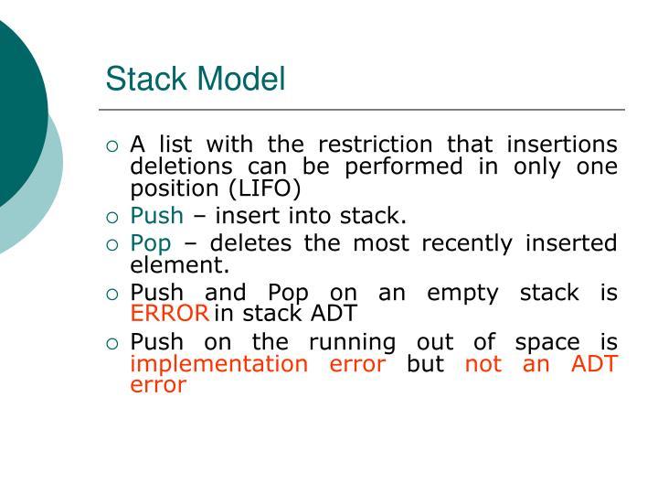 Stack Model