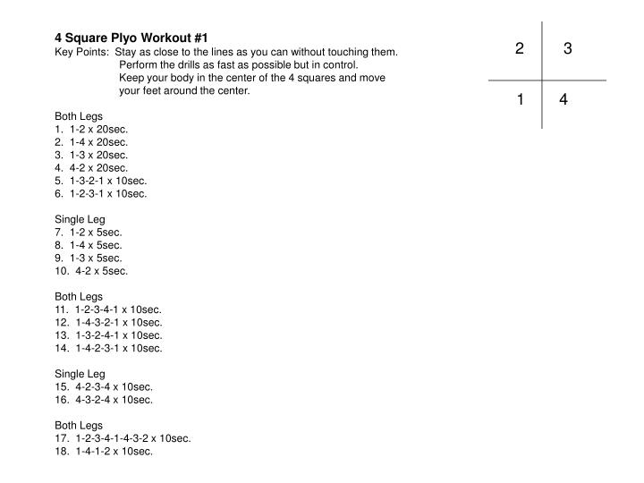 4 square plyo workouts