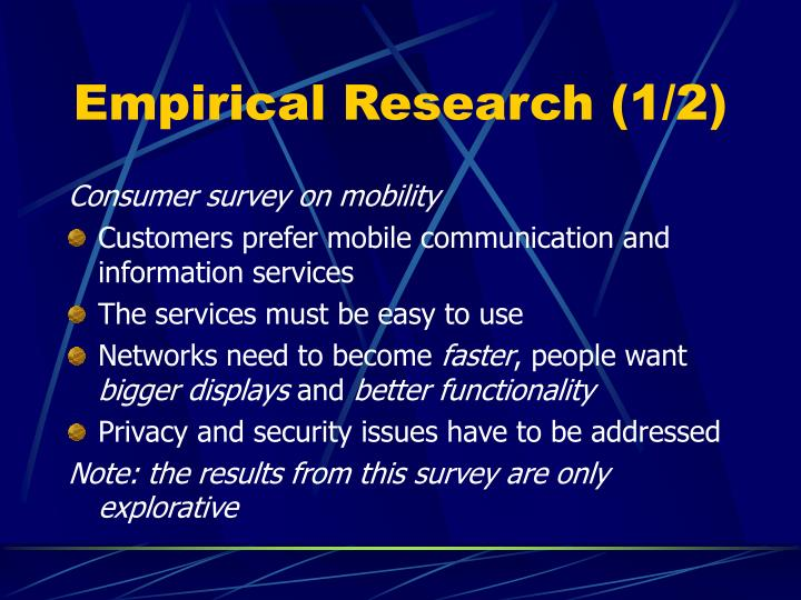 Empirical Research (1/2)