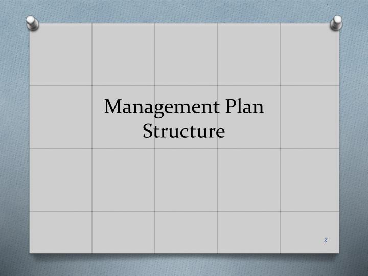 Management Plan Structure
