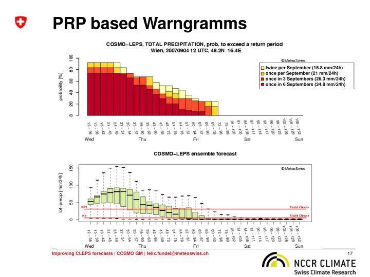 PRP based Warngramms