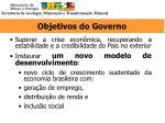 objetivos do governo