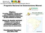programa nacional de extensionismo mineral
