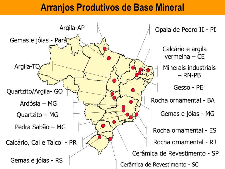 ARRANJOS PRODUTIVOS LOCAIS DE BASE MINERAL