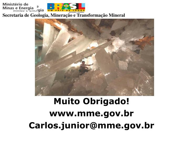 Secretaria de Geologia, Mineração e Transformação Mineral