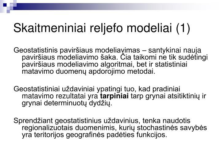Skaitmeniniai reljefo modeliai (1)