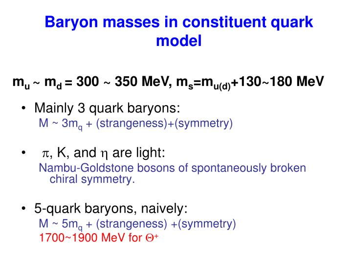 Baryon masses in constituent quark model