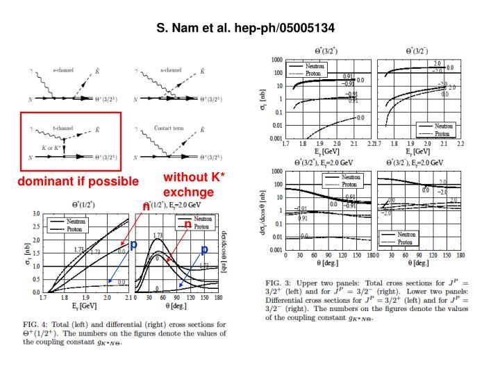 S. Nam et al. hep-ph/05005134