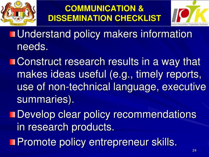 COMMUNICATION &