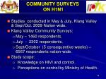 community surveys on h1n1