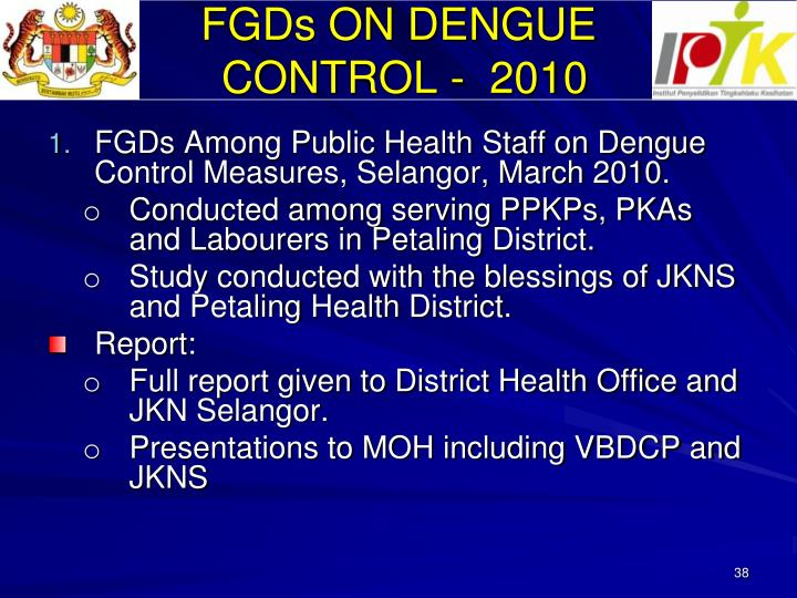 FGDs ON DENGUE
