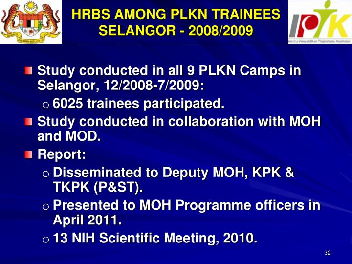HRBS AMONG PLKN TRAINEES