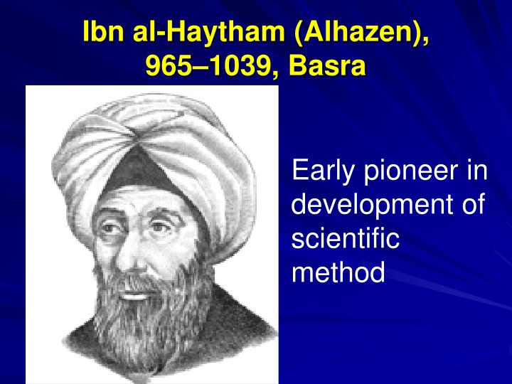 Ibn al-Haytham (Alhazen),