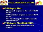 local research uptake