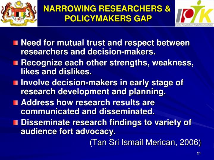 NARROWING RESEARCHERS &