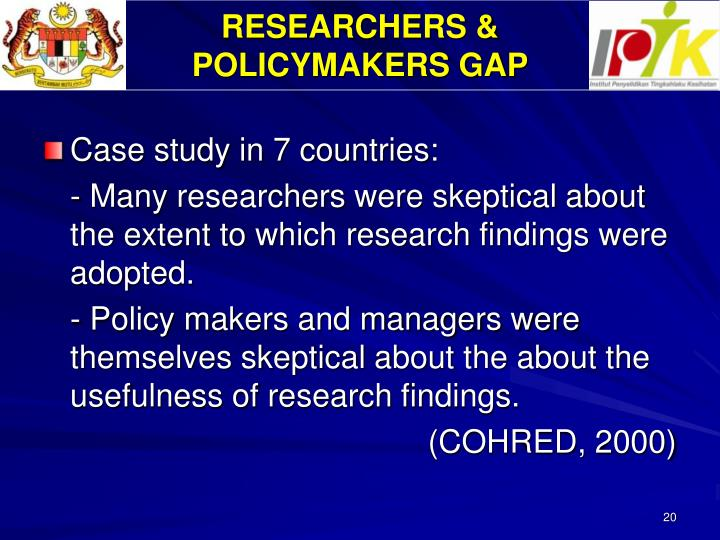 RESEARCHERS &
