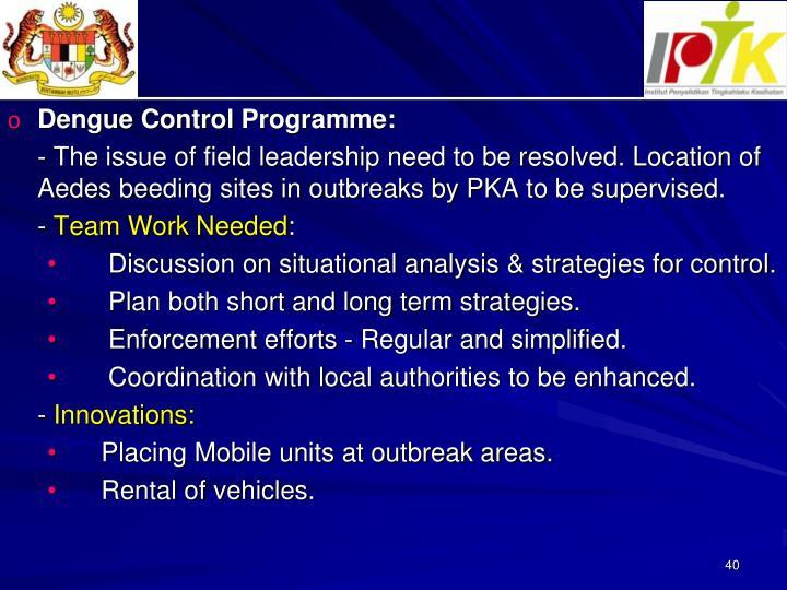 Dengue Control