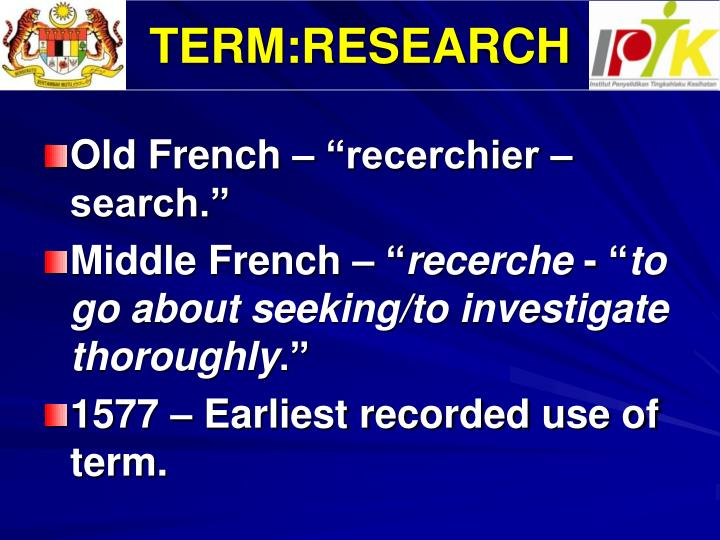 TERM:RESEARCH