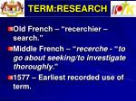 term research