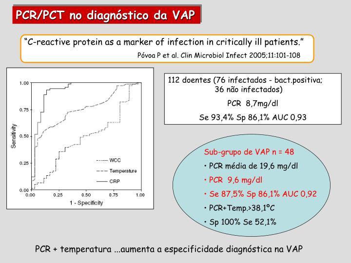 PCR/PCT no diagnóstico da VAP