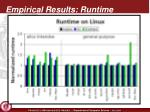 empirical results runtime1