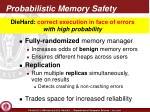 probabilistic memory safety