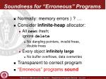 soundness for erroneous programs