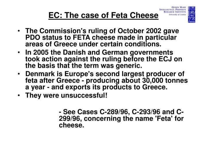 EC: The case of Feta Cheese