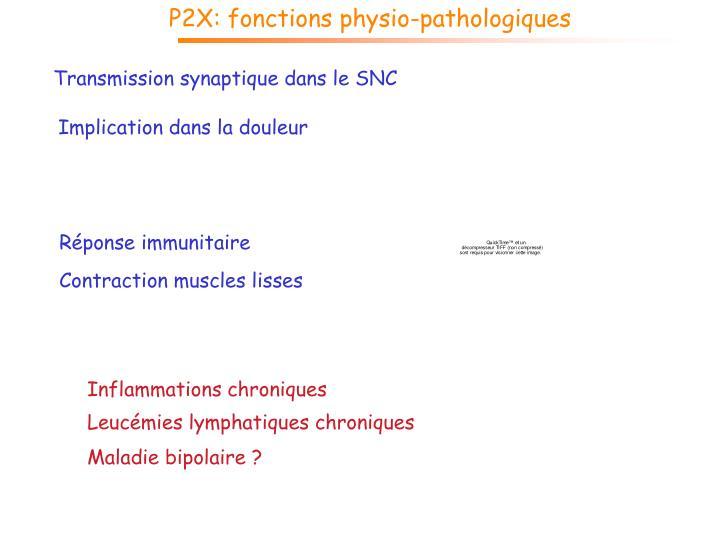 P2X: fonctions physio-pathologiques