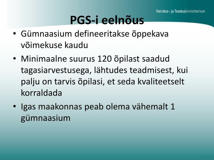 PGS-i eelnõus