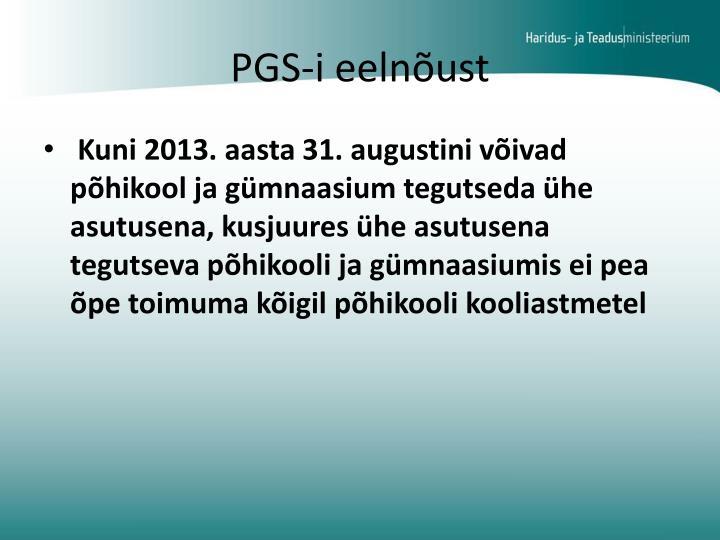 PGS-i eelnõust
