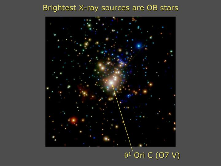 Brightest X-ray sources are OB stars