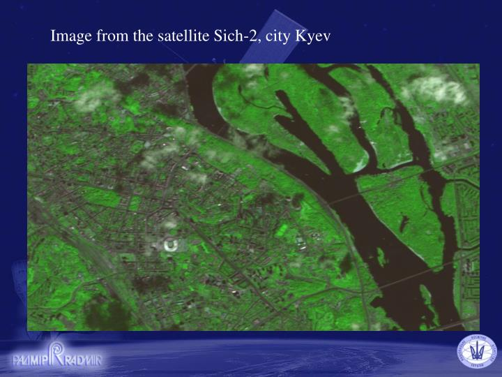 Image from the satellite Sich