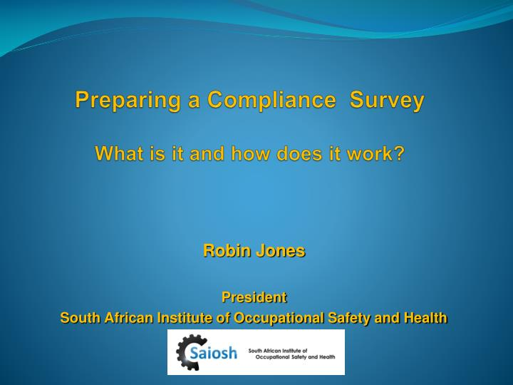 Preparing a compliance survey what is it and how does it work