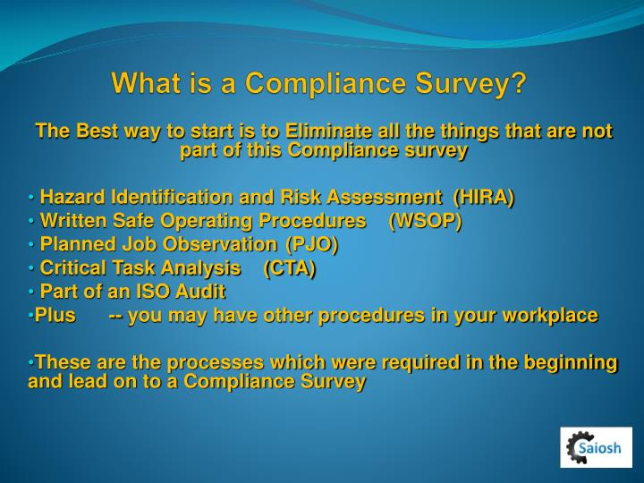 What is a compliance survey