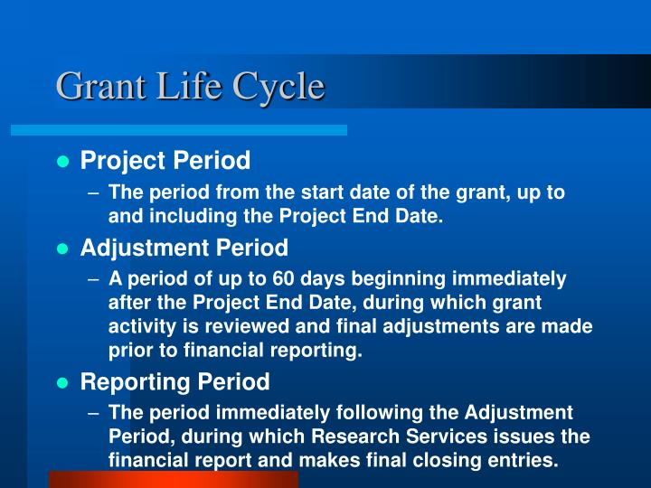 Grant Life Cycle